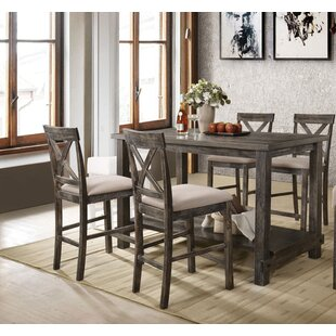 Vanderpool 5 Piece Counter Height Dining Set by Gracie Oaks