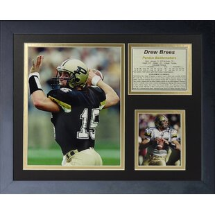 Drew Brees Purdue Framed Memorabilia By Legends Never Die