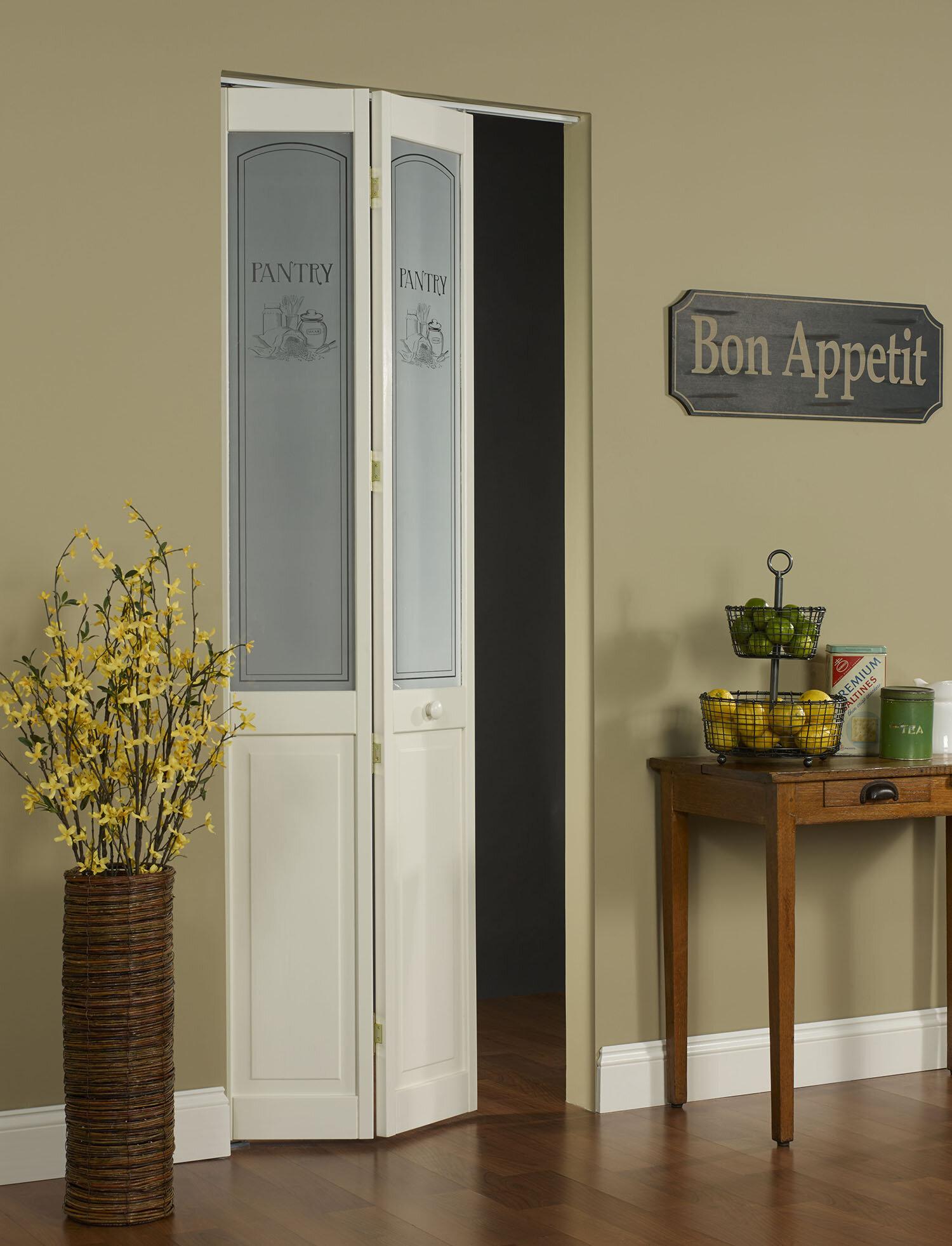 Ltl Bi Fold Doors Pantry Pine Wood Unfinished Interior Door Reviews Wayfair