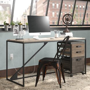 Edgerton Industrial 2 Piece Rectangular Desk Office Suite with 3 Drawer Cabinet by Greyleigh