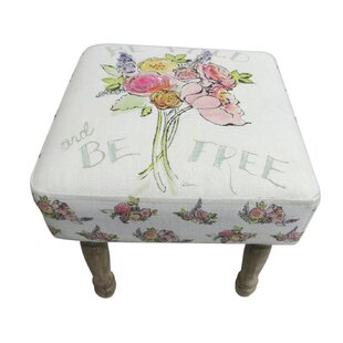 Juin Floral Print Stool By Lily Manor