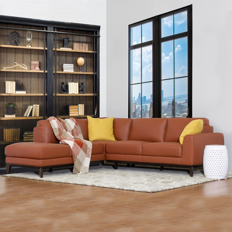Lorimer Leather Sectional Sofa