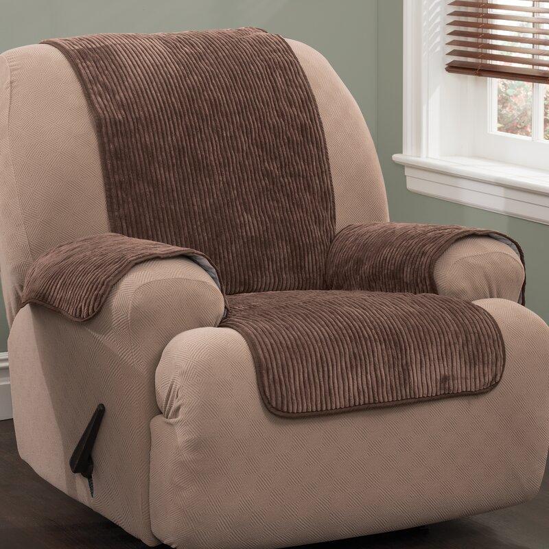 Plush Stripe T Cushion Armchair Slipcover