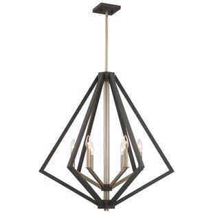 Greggory 6-Light Geometric Chandelier by Corrigan Studio