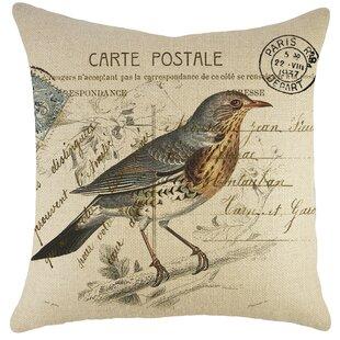 Bird On Branch Pillow Wayfair