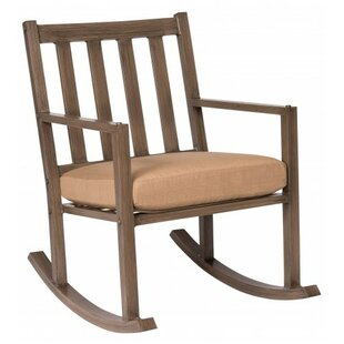 Woodard Woodlands Small Rocking Chair with Cushions