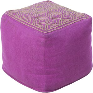 Melanie Embroidered Ottoman by Surya