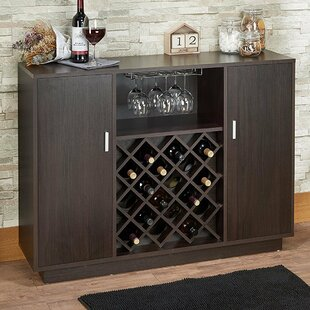 Fuqua Wooden Bar with Wine Storage