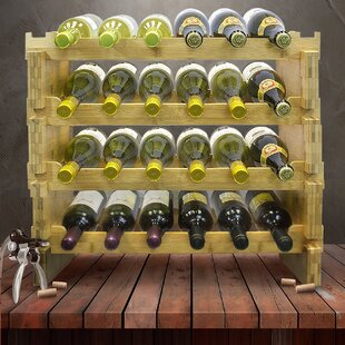 24 Bottle Floor Wine Bottle Rack by Sorbus
