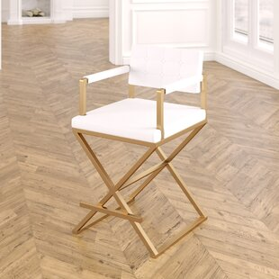 Laurenza Steel Bar Stool Willa Arlo Interiors