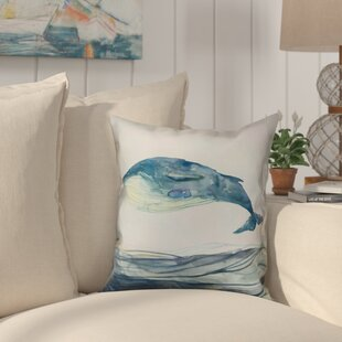 Heitzman Watercolor Whale Throw Pillow