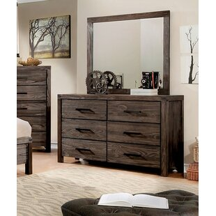 Gracie Oaks Pettigrew Double Dresser with Mi..