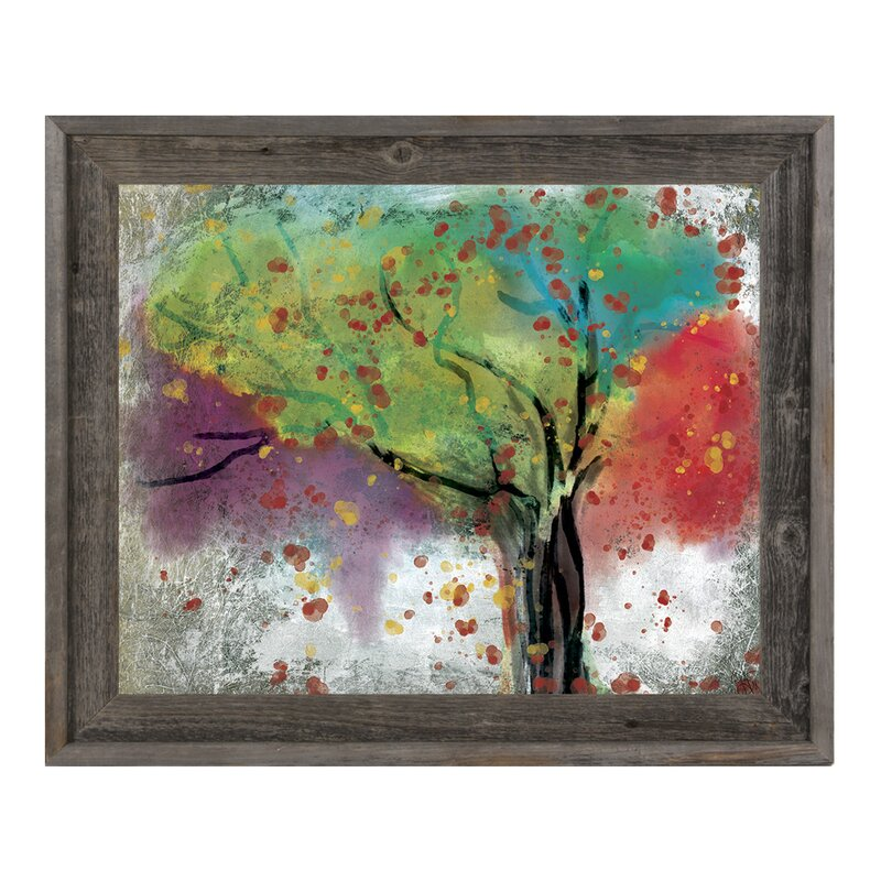 Click Wall Art Changing Trees Framed Painting Print Wayfair