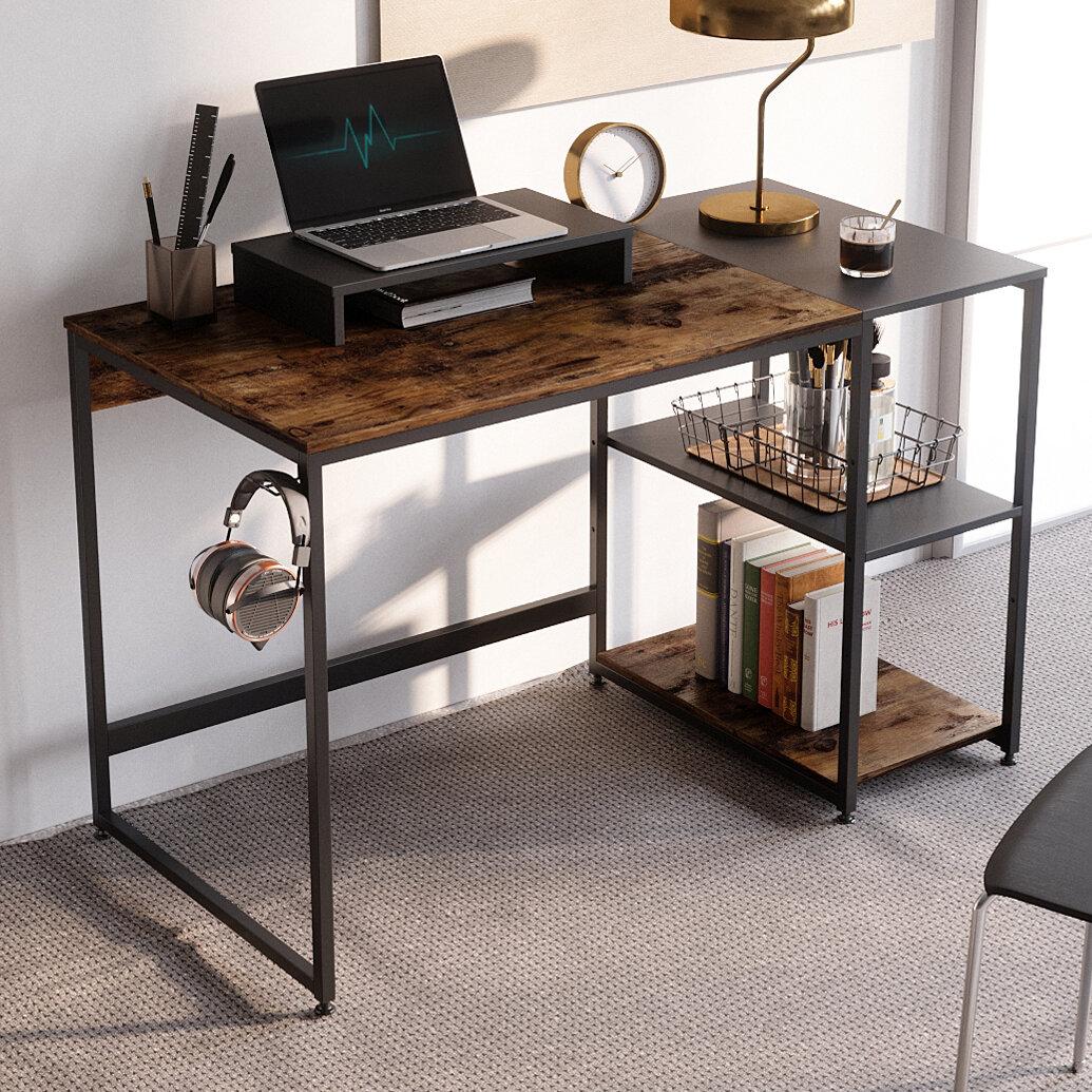Rustic Wood /& Steel Desk H-Leg Rustic Desk Urban Wood Desk Work Station Desk Office Desk Computer Desk Industrial Desk Desk