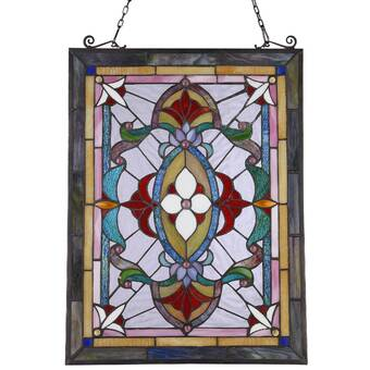Astoria Grand Stained Glass Window Panel QBHZ1018
