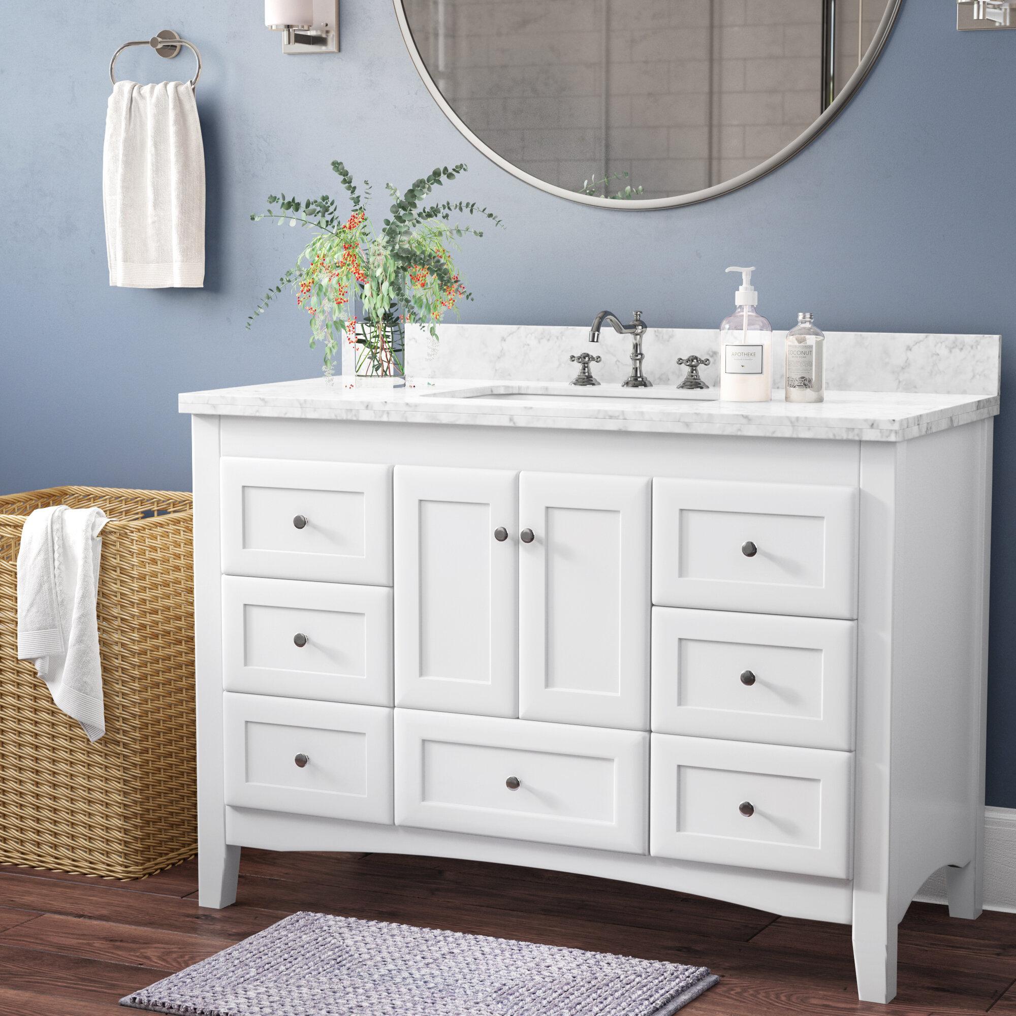 Prentice 48 Single Bathroom Vanity Set Reviews Birch Lane