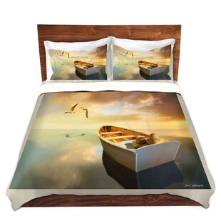 DiaNoche Designs The Lovers Birds and Boats Duvet Set