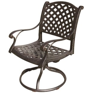 Lincolnville Swivel Patio Dining Chair with Cushion