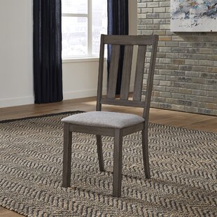Union Rustic Ladwig Slat Back Upholstered Dining Chair (Set of 2)