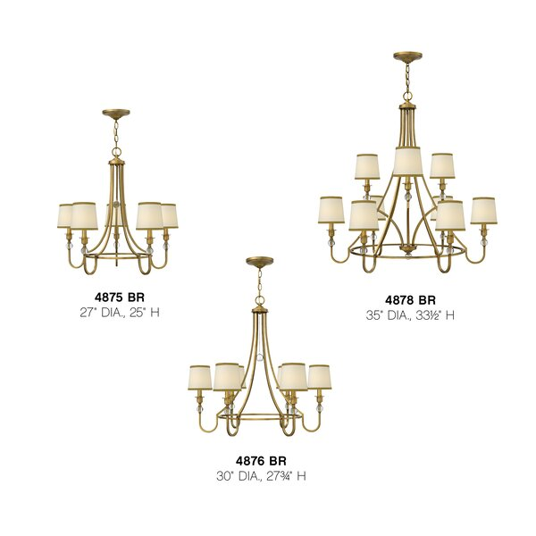 Hinkley Lighting Morgan 5 Light Shaded Classic Traditional Chandelier Perigold