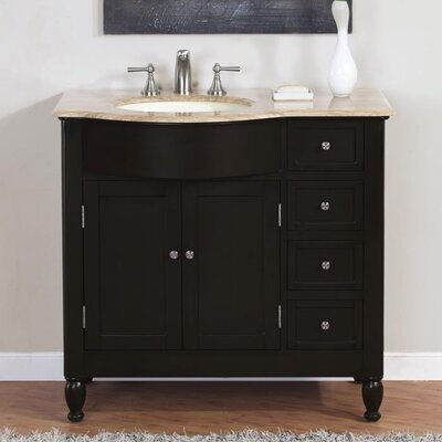 "Bathroom Vanities Plano Tx silkroad exclusive hamilton 38"" single bathroom vanity set"