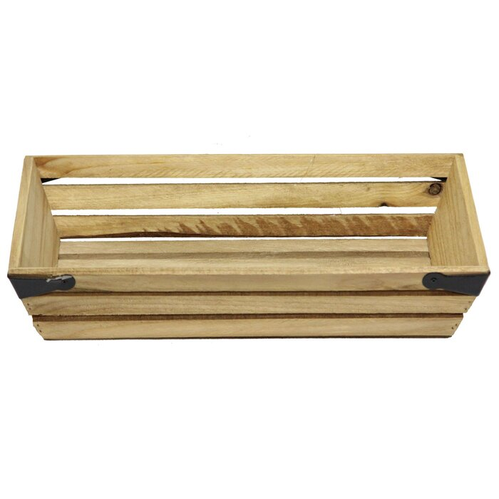 Shallow Rectangle Manufactured Wood Crate