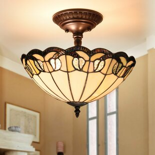 Hartington 2-Light Semi Flush Mount by Fleur De Lis Living