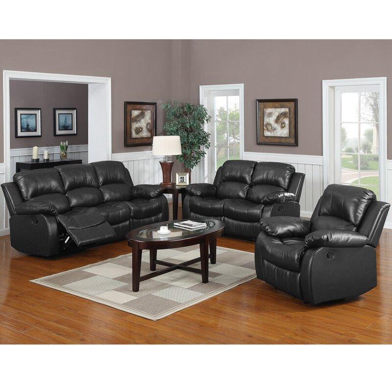 Latitude Run Bryce Reclining 3 Piece Reclining Living Room Set