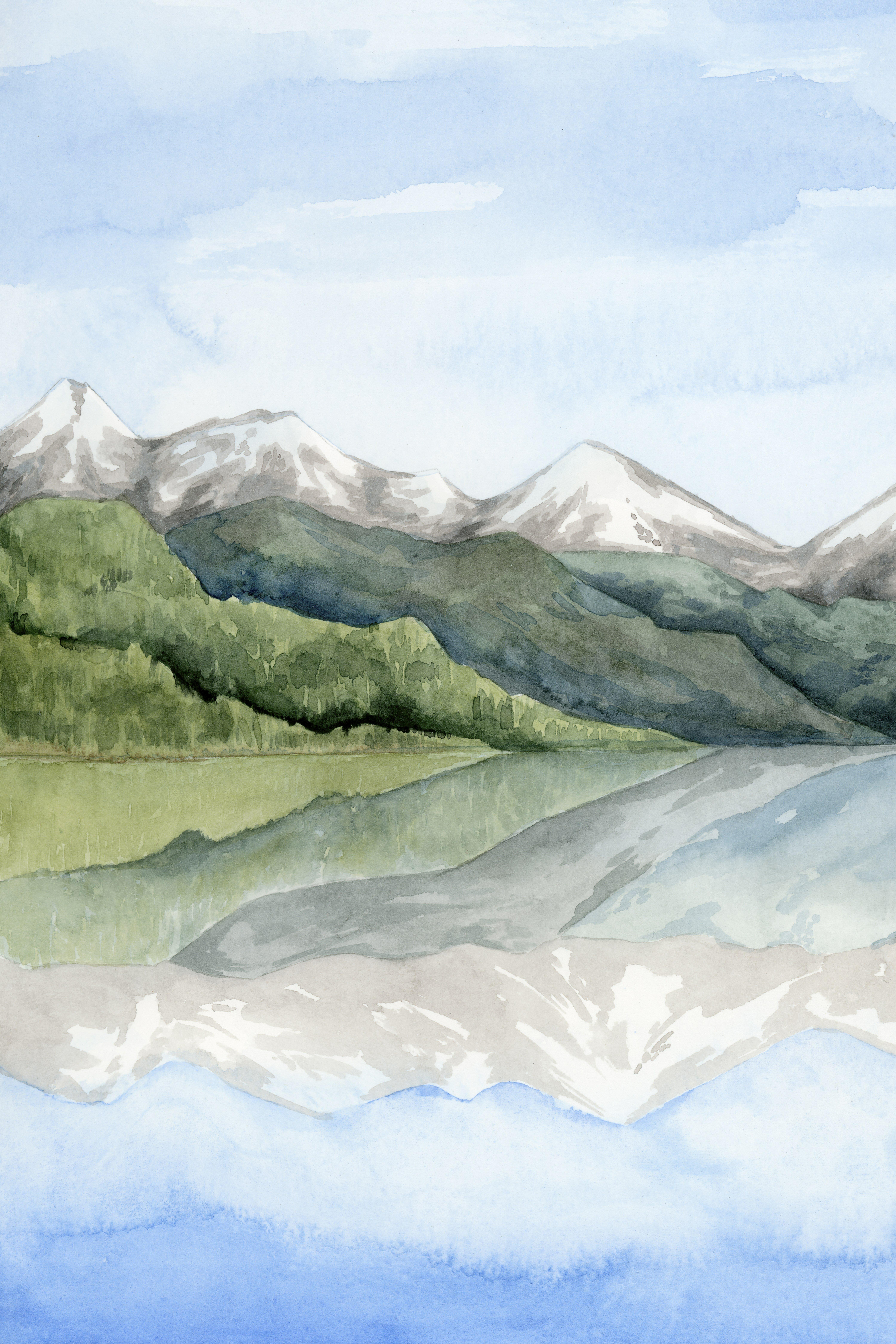 Union Rustic Mirror Lake I Painting On Canvas Wayfair