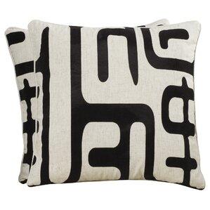linencotton blend throw pillow set of 2