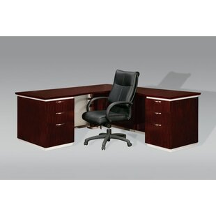 Pimlico Left L-Shape Executive Desk by Flexsteel Contract