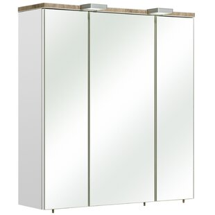 Burgas 65 X 70cm Mirrored Wall Mounted Cabinet By Quickset