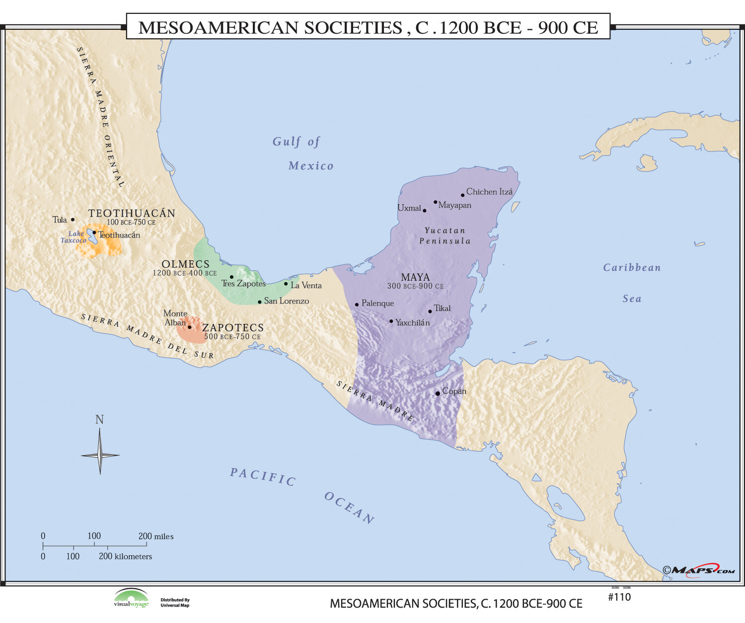 Universal map world history wall maps mesoamerican societies universal map world history wall maps mesoamerican societies reviews wayfair gumiabroncs Image collections