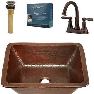 Sinkology Hawking All-In-One Metal Rectangular Undermount Bathroom Sink with Faucet