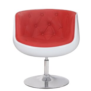Adeco Trading Glass Shaped Leisure Barrel Chair
