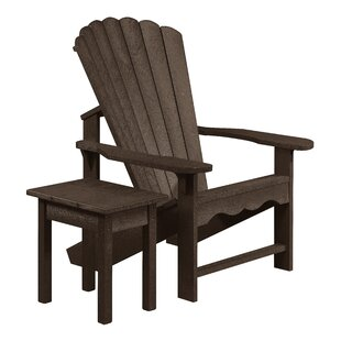 Beachcrest Home Zander Plastic Adirondack Chair with Table