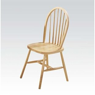 August Grove Osias Solid Wood Dining Chair (Set of 4)