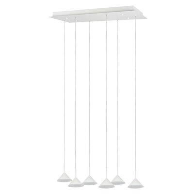 6-light Pendant Aspen Creative Corporation Color: White