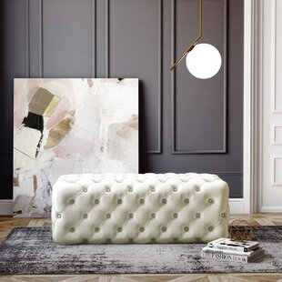 Shari Kaylee Sea Tufted Cocktail Ottoman by Everly Quinn Design