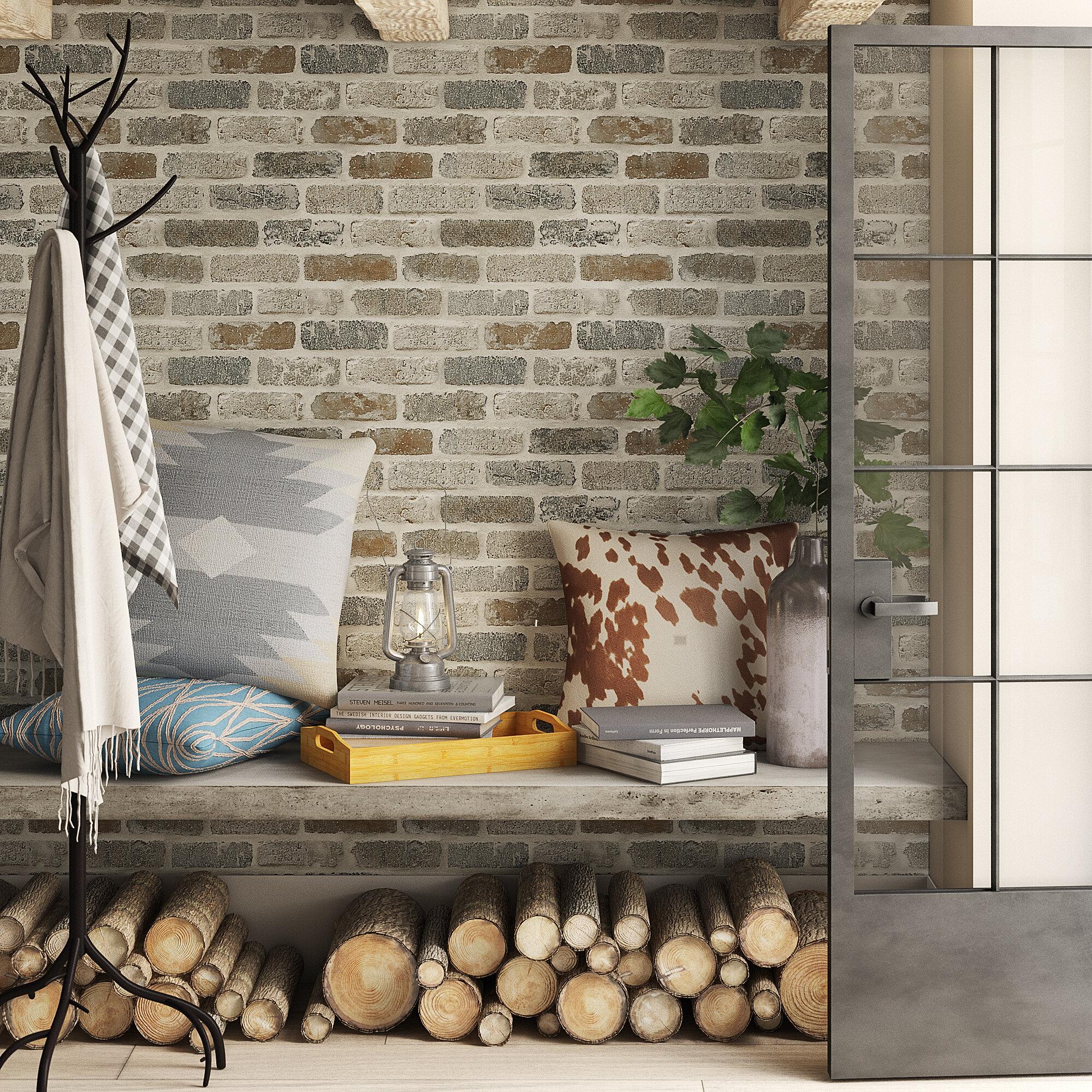 Millwood Pines Dulce Faux Brick 18 L X 20 5 W Peel And Stick Wallpaper Roll Reviews Wayfair