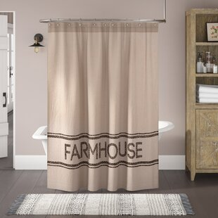 Surikova Farmhouse Cotton Single Shower Curtain