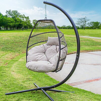 Aviva Outdoor Luxury Wicker Swing Chair by Bungalow Rose Today Sale Only