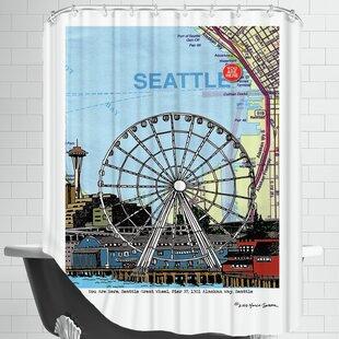 East Urban Home Seattle Great Wheel Shower Curtain