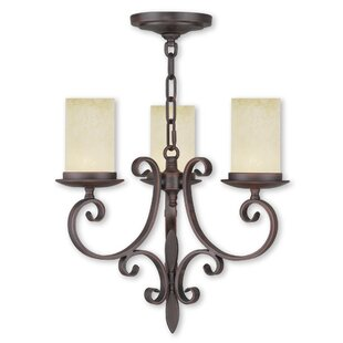 Fleur De Lis Living Bressler 3-Light Shaded Chandelier