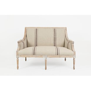 Upson Distressed Wooden Frame Loveseat