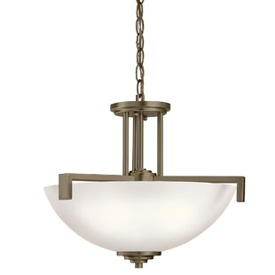 Brayden Studio Esmont 3-Light Bowl Pendant