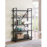 Kreger 70.5 H x 46.75 W Metal Etagere Bookcase by 17 Stories