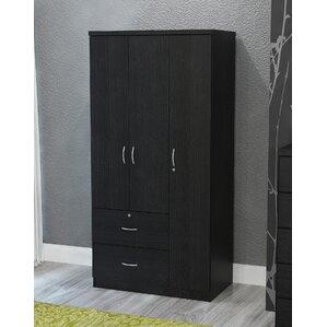 Black 3 Door Armoire By Hazelwood Home
