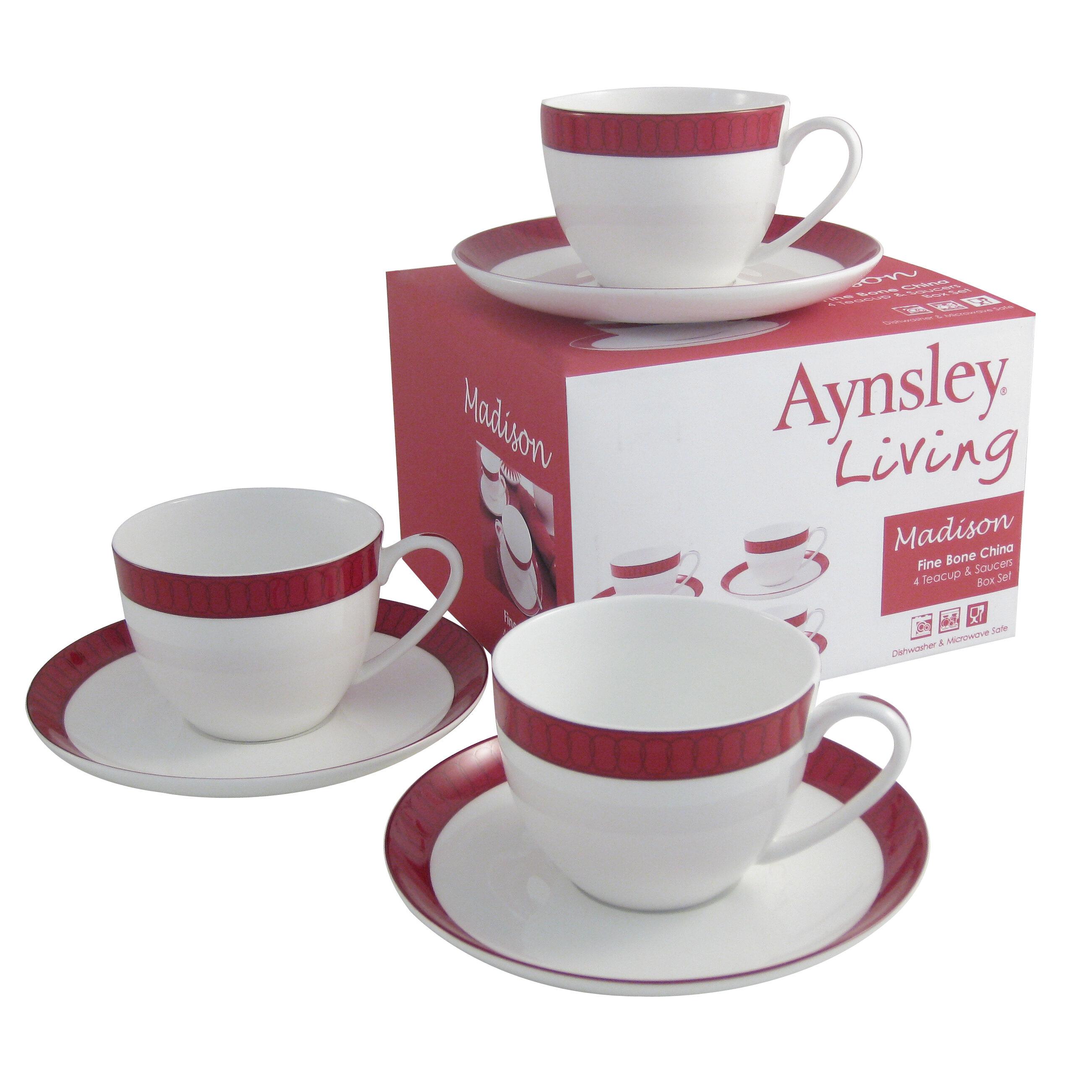 Madison Teacup and Saucer Set (Set of 4). by Aynsley China  sc 1 st  Wayfair & Aynsley China | Wayfair.co.uk