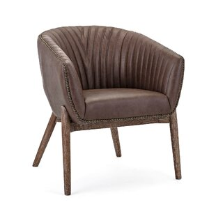 Nakasa Grant Leather Barrel Chair
